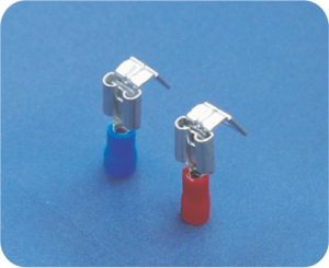 FASTON insulated cable terminals - Female with added male attachment