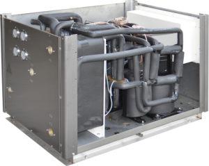 Geothermal source heat pumps water-water
