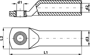 ALUMINUM-COPPER CABLE TERMINALS FOR CRIMPING