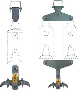 EQUIPMENT FOR SUPPORTING  INSULATOR CHAINS
